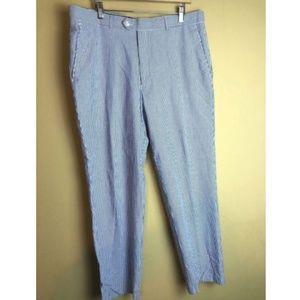 ALAN FLUSSER striped seersucker pants 38x30